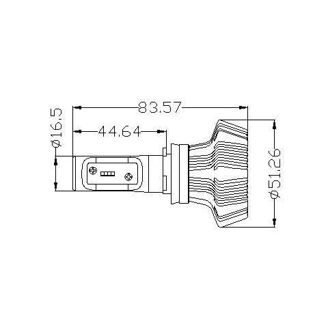 Набор светодиодного головного света UP-7HL-H11W-4000Lm (H11, 4000 лм, холодный белый) Превью 4