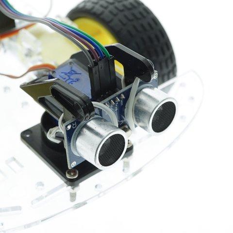Конструктор Arduino Робомашинка з давачем (датчиком) для оминання перешкод + посібник користувача Прев'ю 1